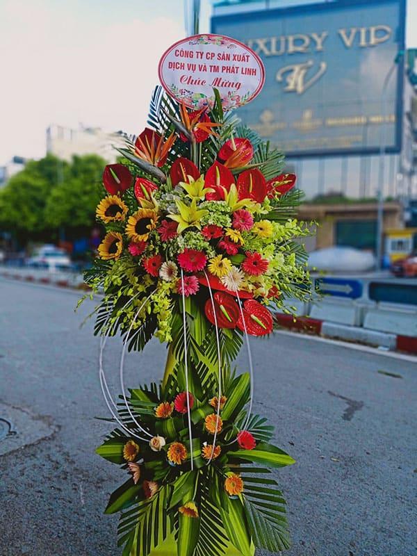 Hoa tươi mừng ngày khai trương